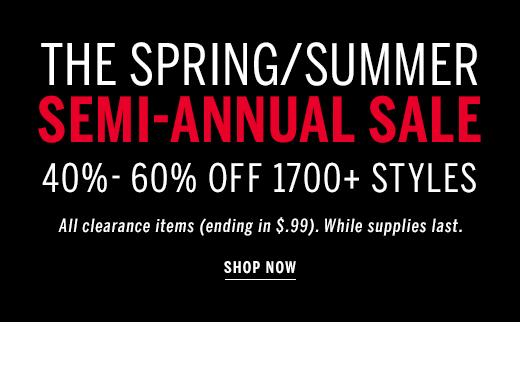 Semi-Annual Sale 40%-60% Off
