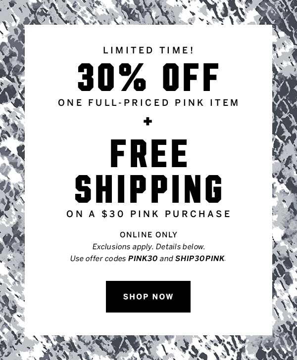 30% Off + Free shipping + shop now