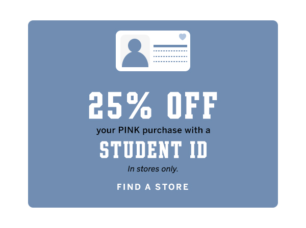 25% off with student ID in store