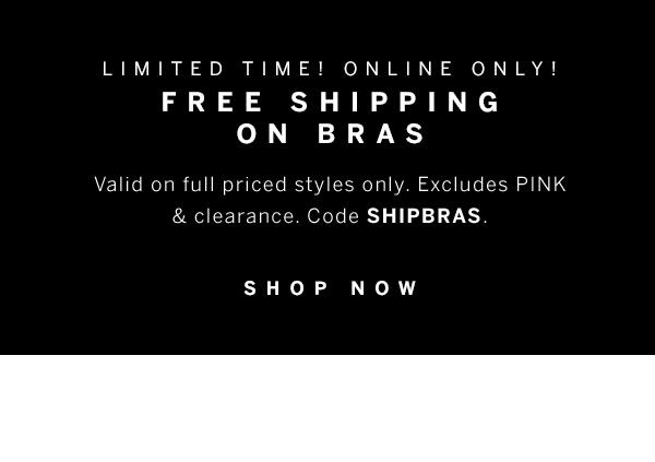 Free shipping on bras