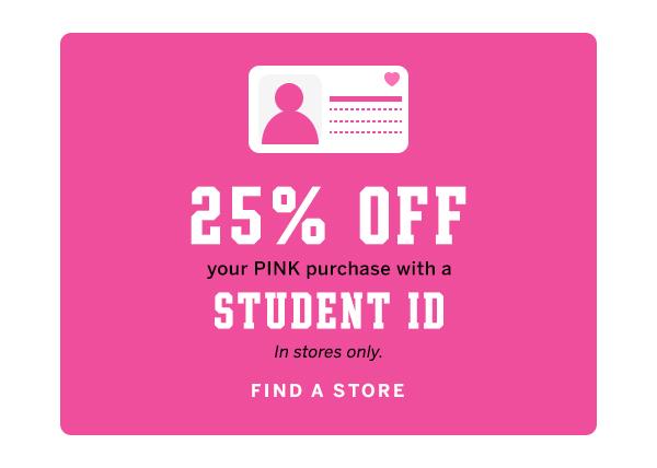 25% off w/ student ID