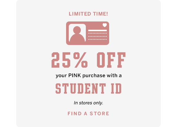 25% off student ID