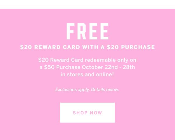 Free $20 reward
