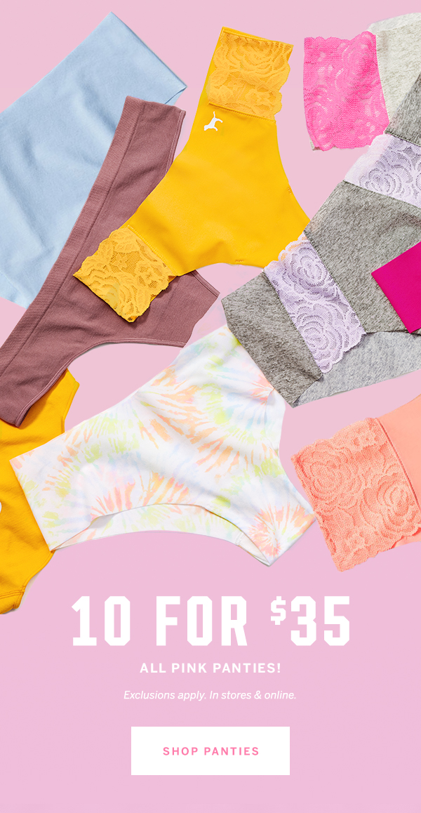 10 for $35 all PINK panties