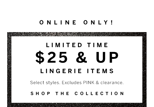 $25 & Up Lingerie
