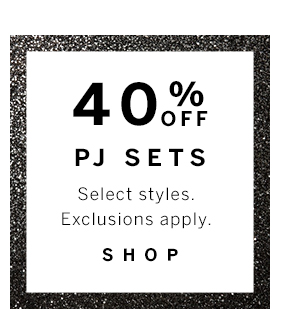 40% off PJs