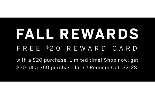 Fall Reward Card