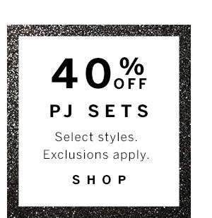 40% Off Pj Sets