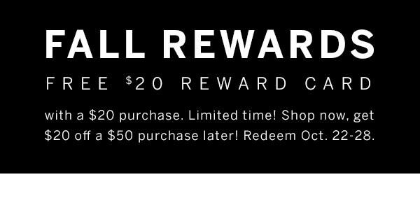$20 Reward Card