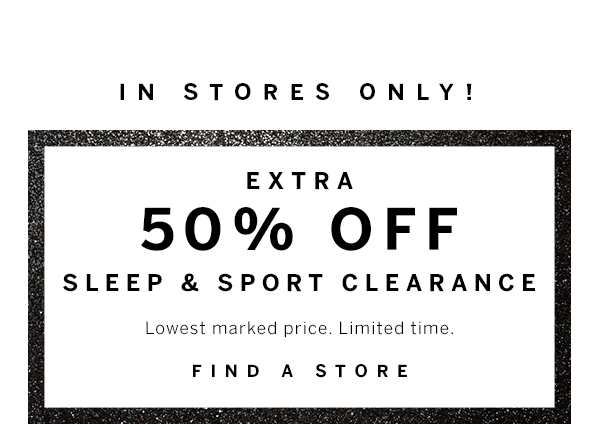 50% off Sleep and Sport