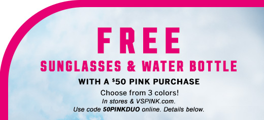 Free Sunglasses & Water Bottle