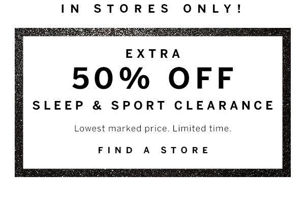 50% off Sleep & Sport