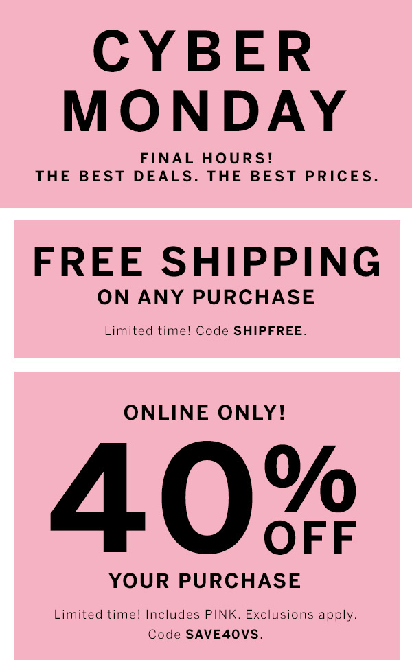 Cyber Monday & 40 off