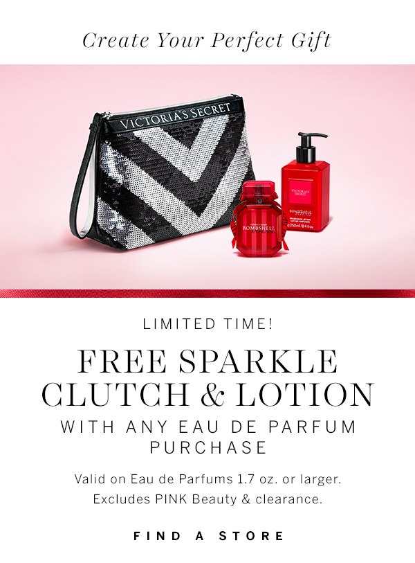 Free Sparkle Clutch & Lotion